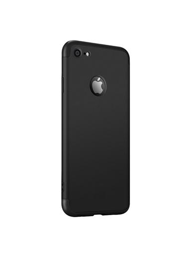 Microsonic Apple iPhone 6S Kılıf Double Dip 360 Protective Siyah Siyah